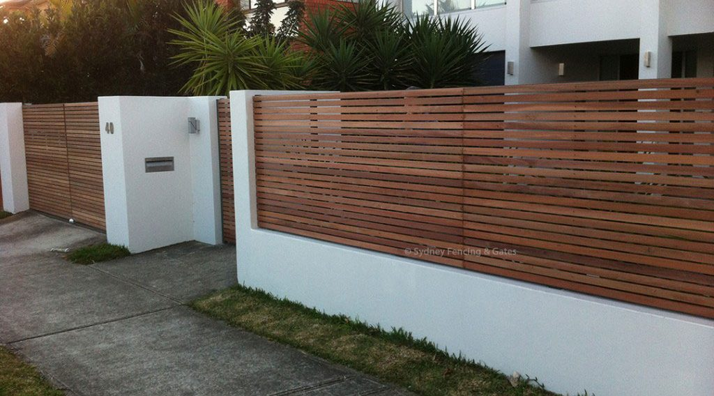 Timber Slats Fences Sfg Sydney Fencing And Gates